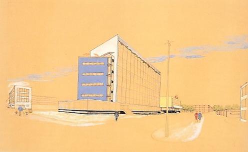tekening Oud stadhuis Almelo
